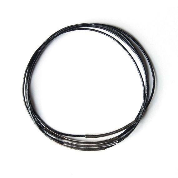 afgestoft afgestoft armband juul - zwart