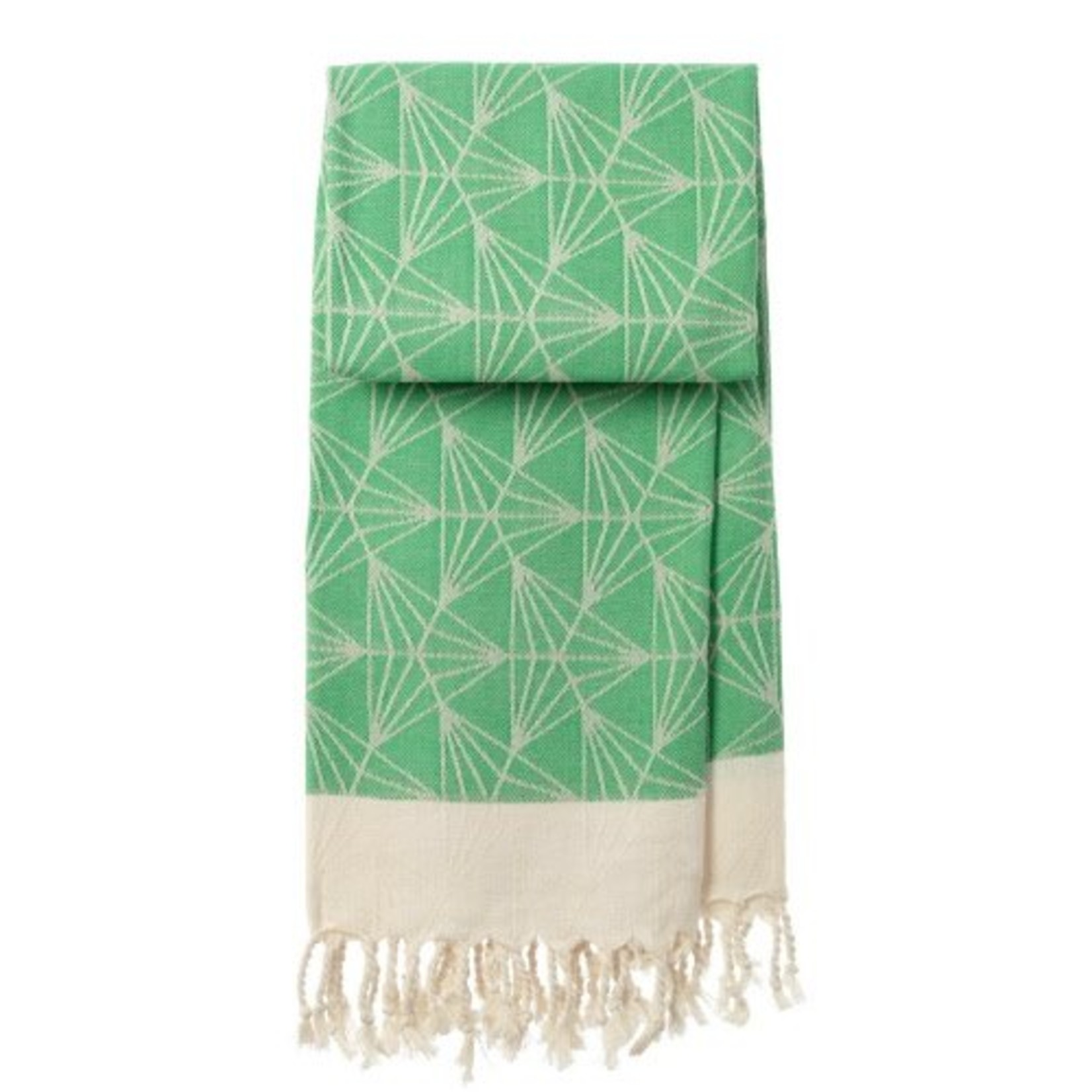 mocco   made of cotton co. hamamtowel Triangle - green