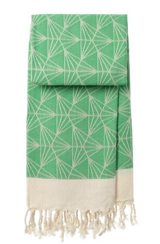 mocco | made of cotton co. hamamtowel Triangle - green