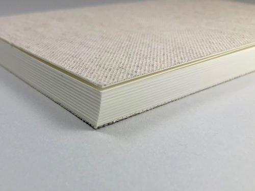 etiket notebook linnen - naturel