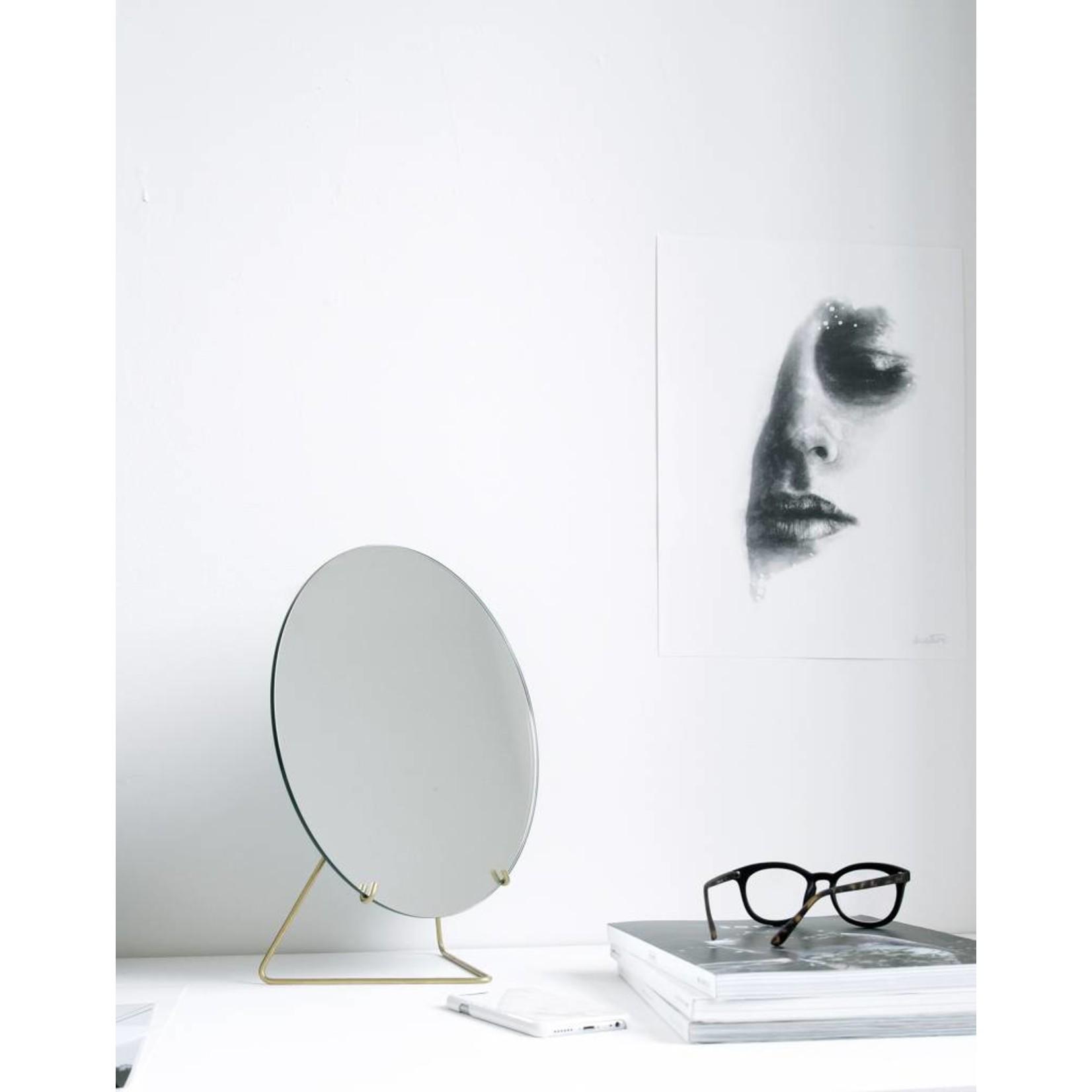 moebe spiegel - messing