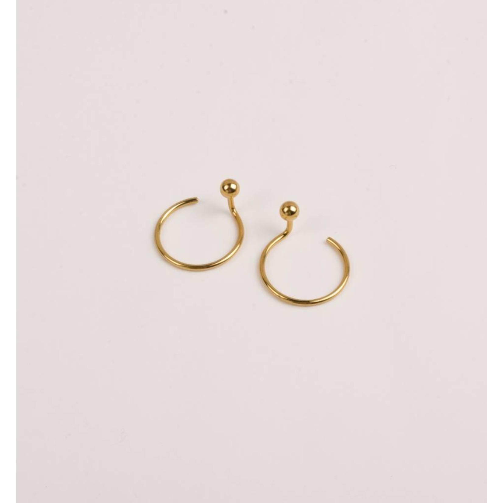 charlotte wooning earrings pluto gold