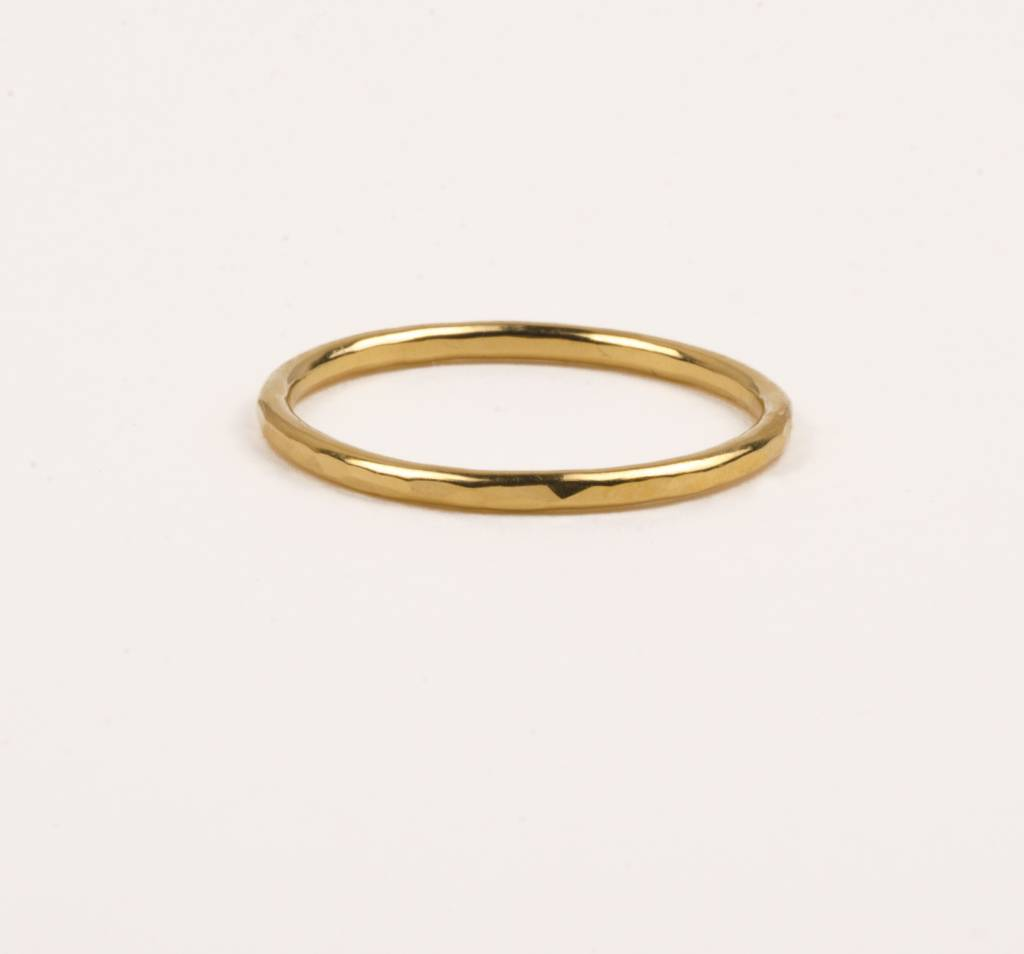 charlotte wooning ring circles hammered - goud
