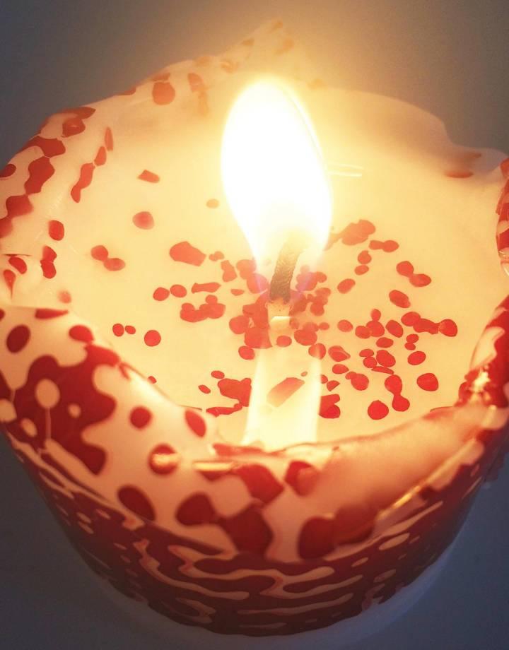 mo man tai mo man tai sparkling candle - marsala red