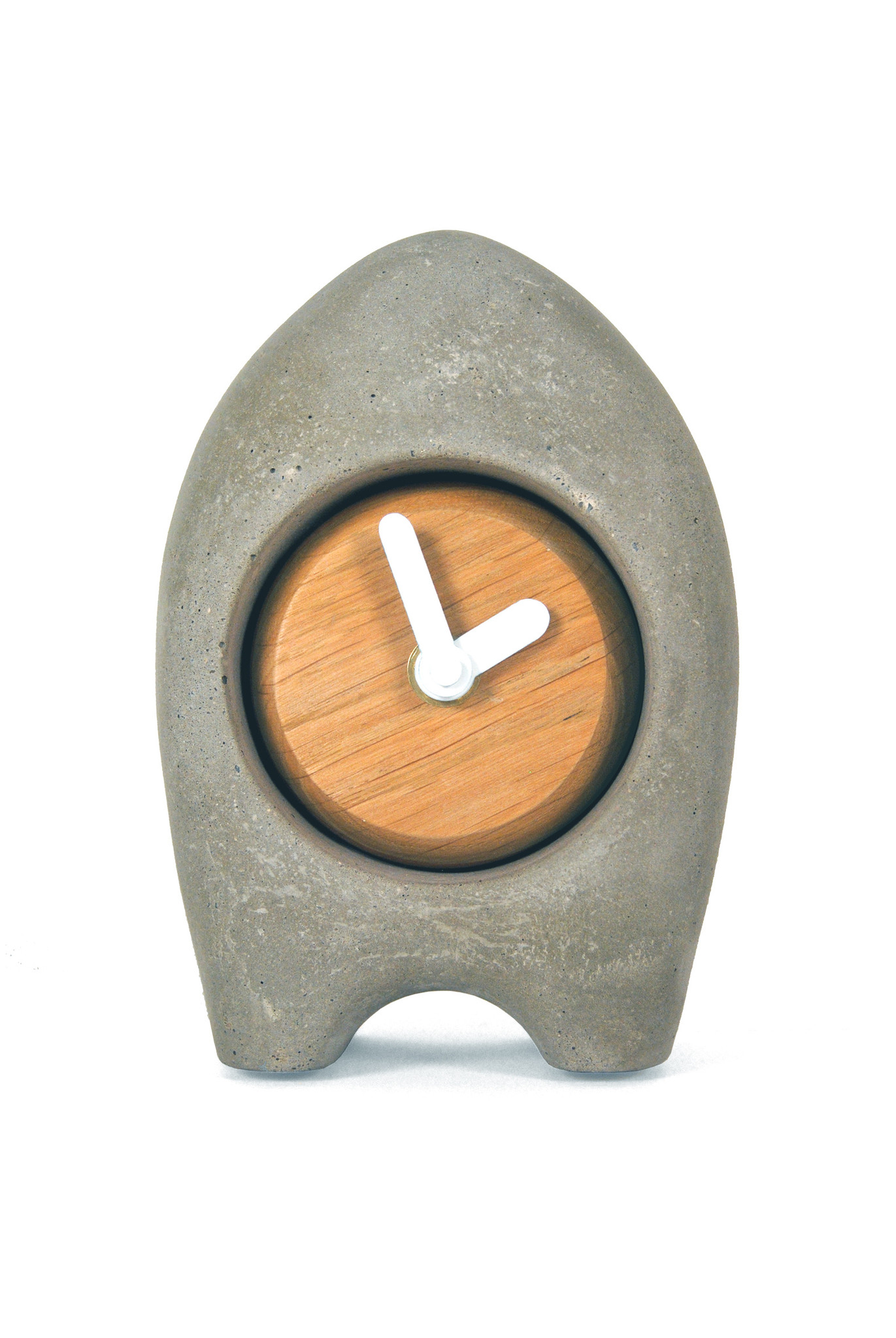 ramon hulspas Clock - the Nub beton/eiken