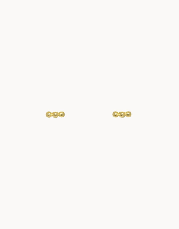 flawed  flawed dotted studs - goud
