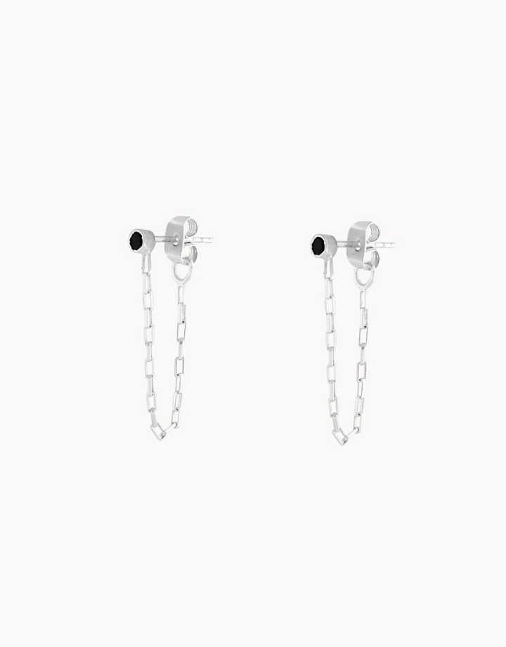 flawed  peony studs - zilver