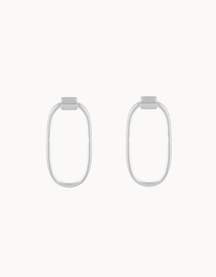 flawed  flawed earrings chloe - silver
