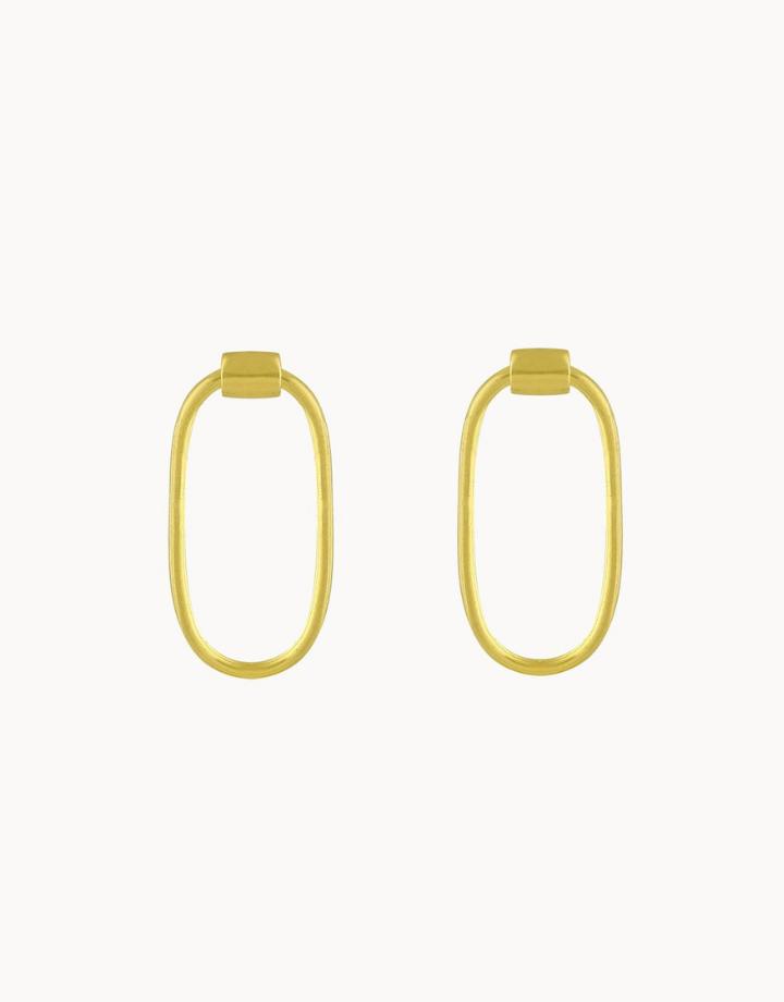 flawed  flawed earrings chloe - gold