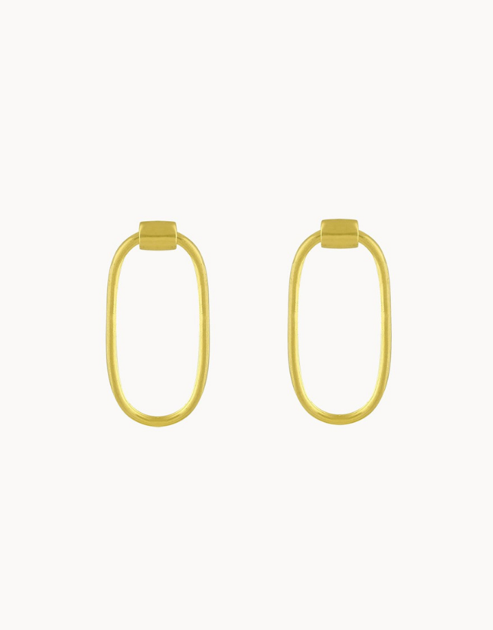 flawed  flawed oorbel chloe - goud