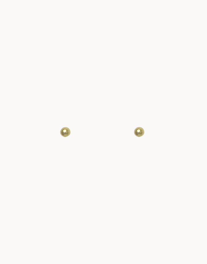 flawed  tiny dots studs - goud