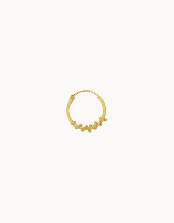 flawed  wired hoop - goud