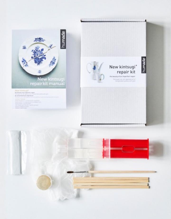 humade kintsugi  aardewerk repair kit - goud