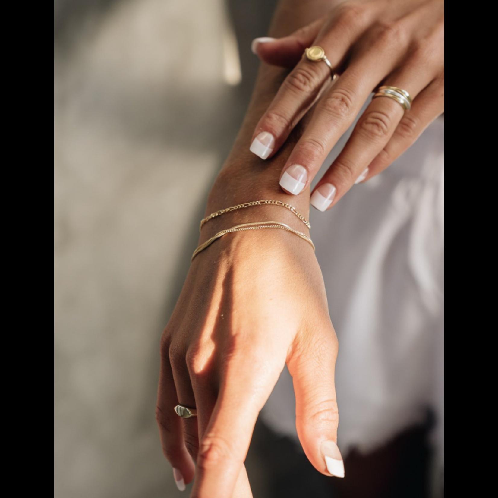 flawed  flawed armband oleander - zilver