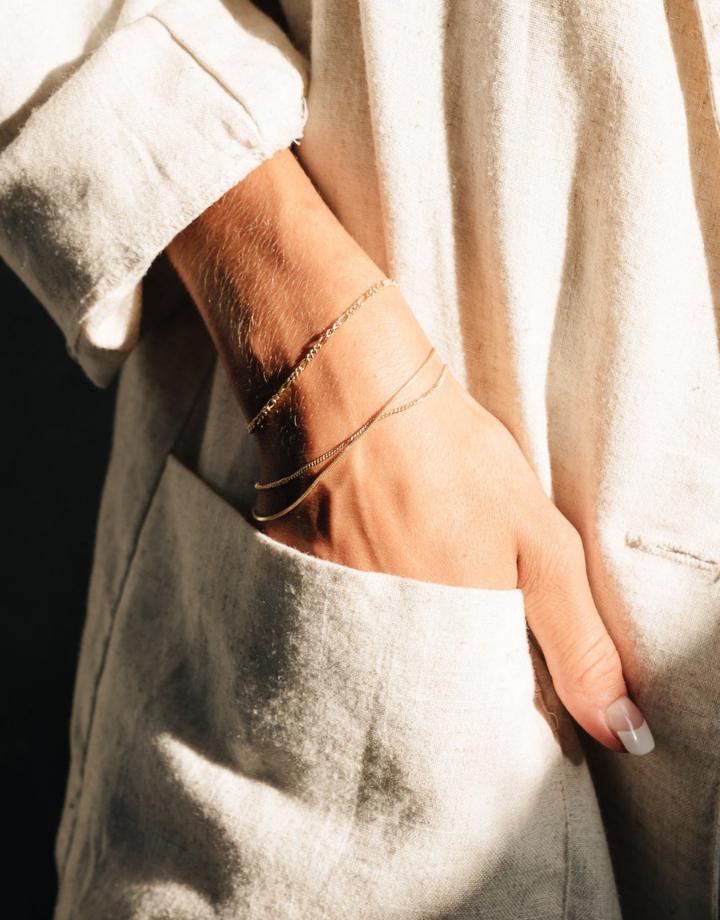 flawed  flawed armband oleander - goud