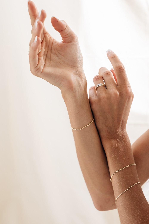flawed  flawed armband violet  - goud