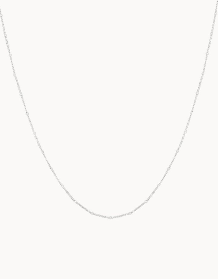 flawed  flawed ketting dotted - zilver