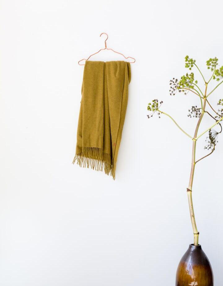 coisa coisa sjaal re-wool - mosterd