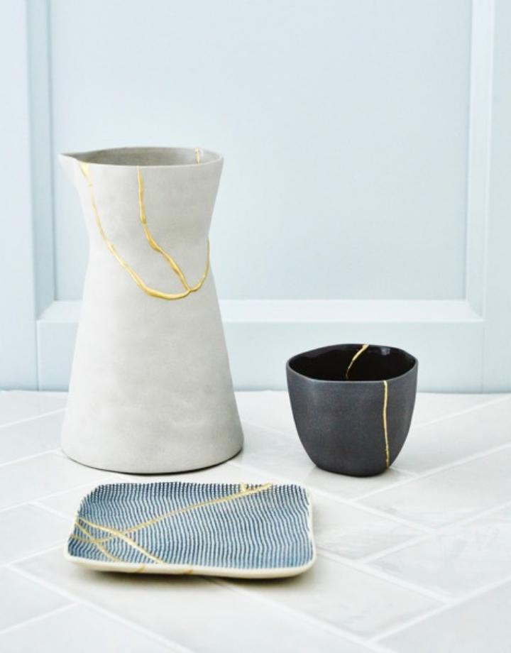humade humade kintsugi ceramics repair kit - gold