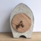 ramon hulspas Clock - the Nub beton/eiken