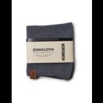 humdakin knitted dish cloth - dark ash