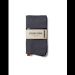 humdakin gebreide handdoek - dark ash