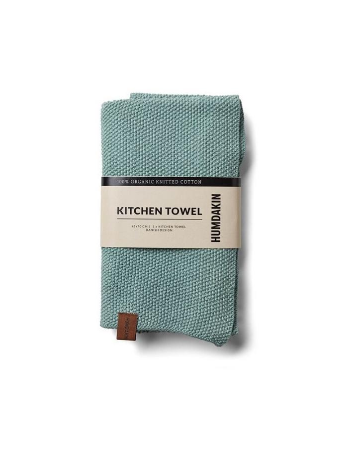 humdakin humdakin gebreide handdoek - dusty green