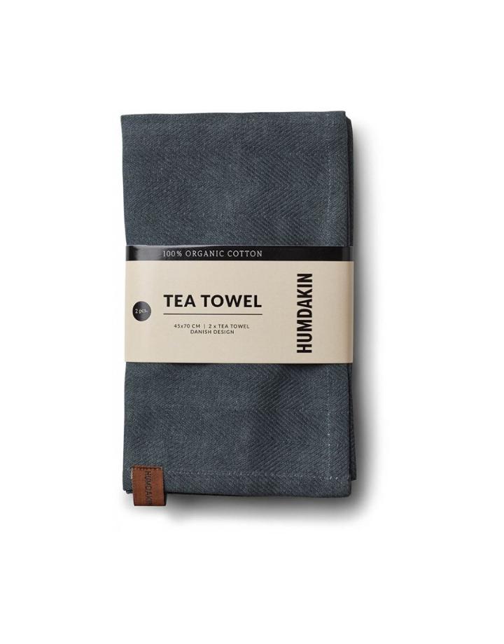 humdakin humdakin tea towel - set of 2 - dark ash