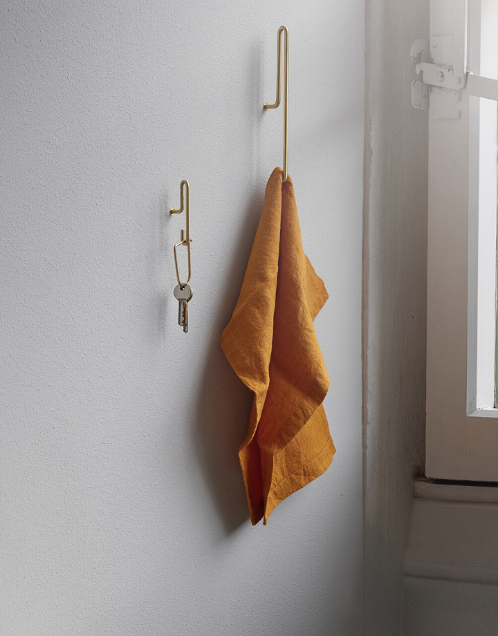 moebe moebe wall hook  large - brass