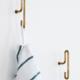 moebe moebe wall hook  small - matt gold