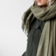coisa coisa shawl re-wool - army green