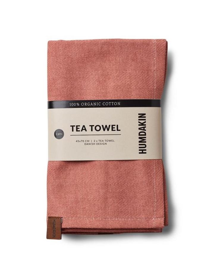 humdakin humdakin tea towel - set of 2 - dusty powder