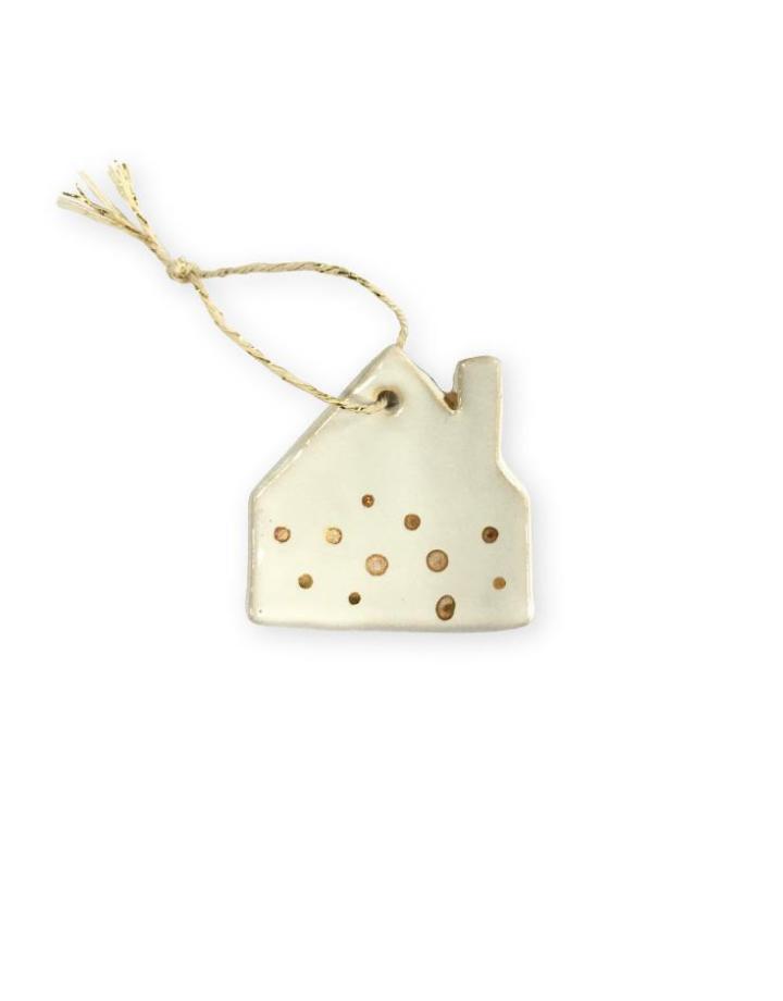 NADesign NADesgin ceramic pendant - house gold dots