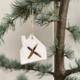 NADesign NADesgin ceramic pendant - house golden cross