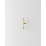 moebe wandhaak small - mat goud