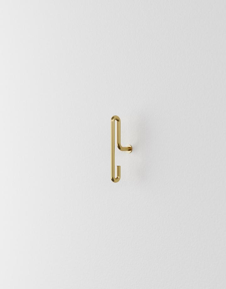 moebe moebe wandhaak small - mat goud