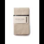 humdakin Knitted kitchen towel - light stone