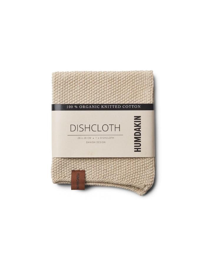 humdakin humdakin  knitted dish cloth - light stone