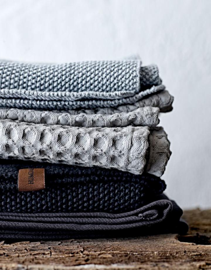 humdakin humdakin  knitted dish cloth - dark ash