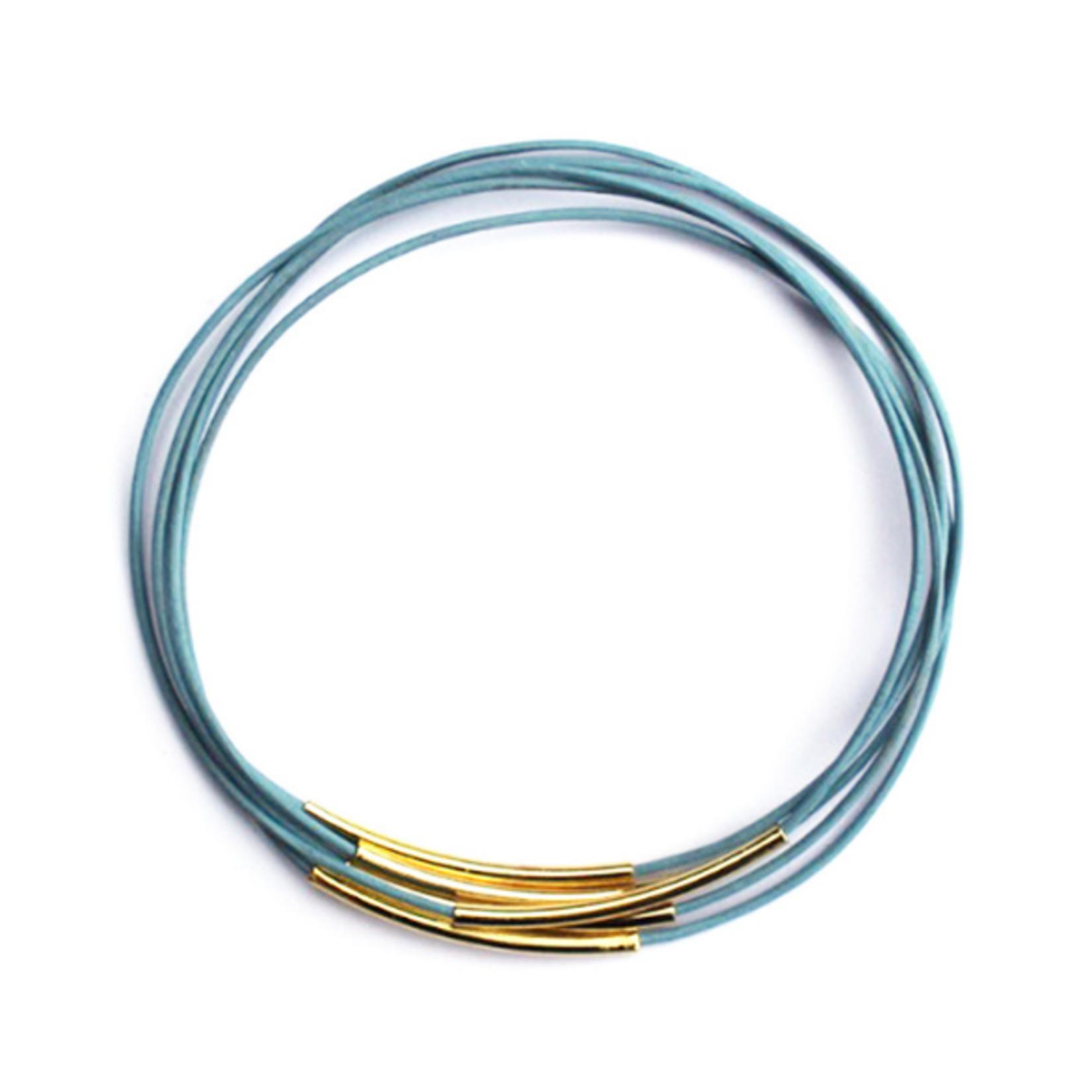 afgestoft afgestoft armband juul - hemelsblauw