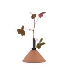 scandinavia form consilium vase - terracotta  black medium