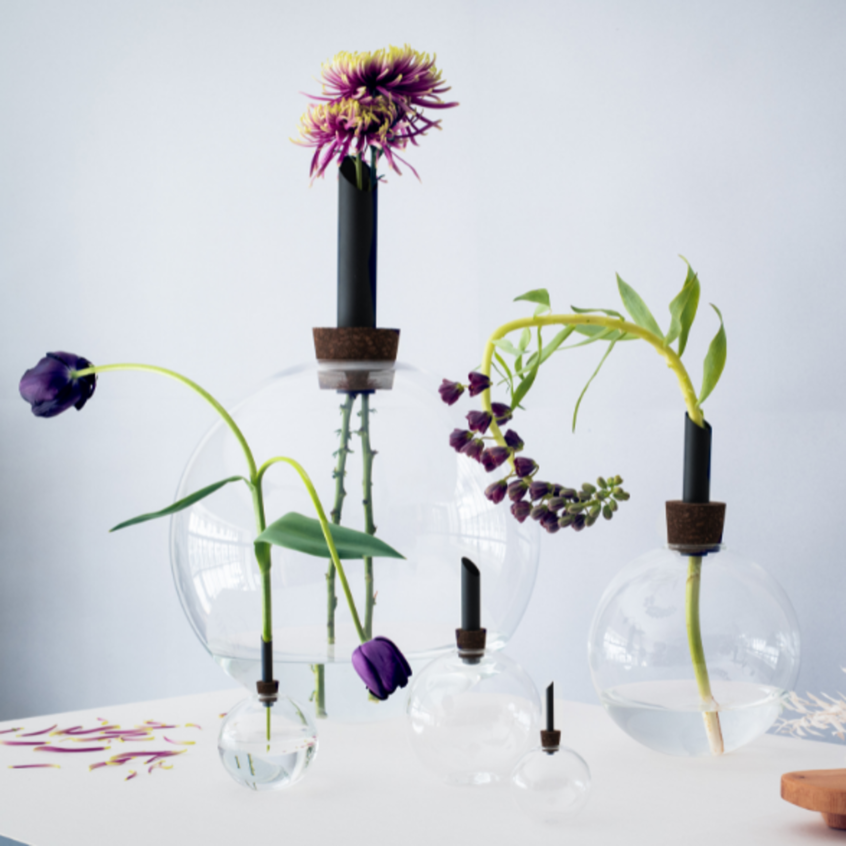 scandinavia form scandinavia form - glasilium vase - black