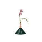 scandinavia form consilium vase  - forest green