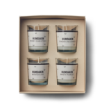 humdakin scented candle - clean christmas - 4 pack