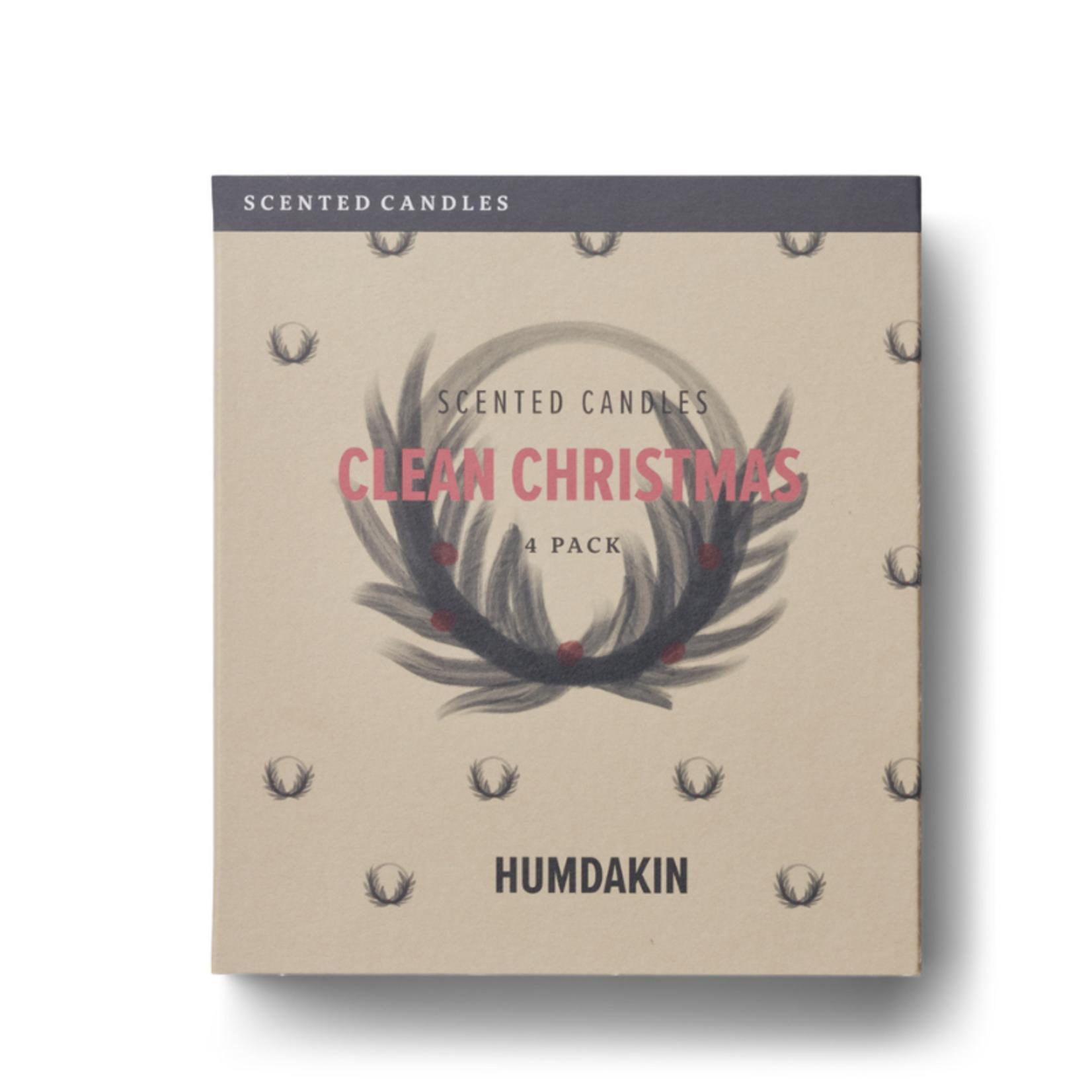 humdakin humdakin - geurkaars - clean christmas - set van 4