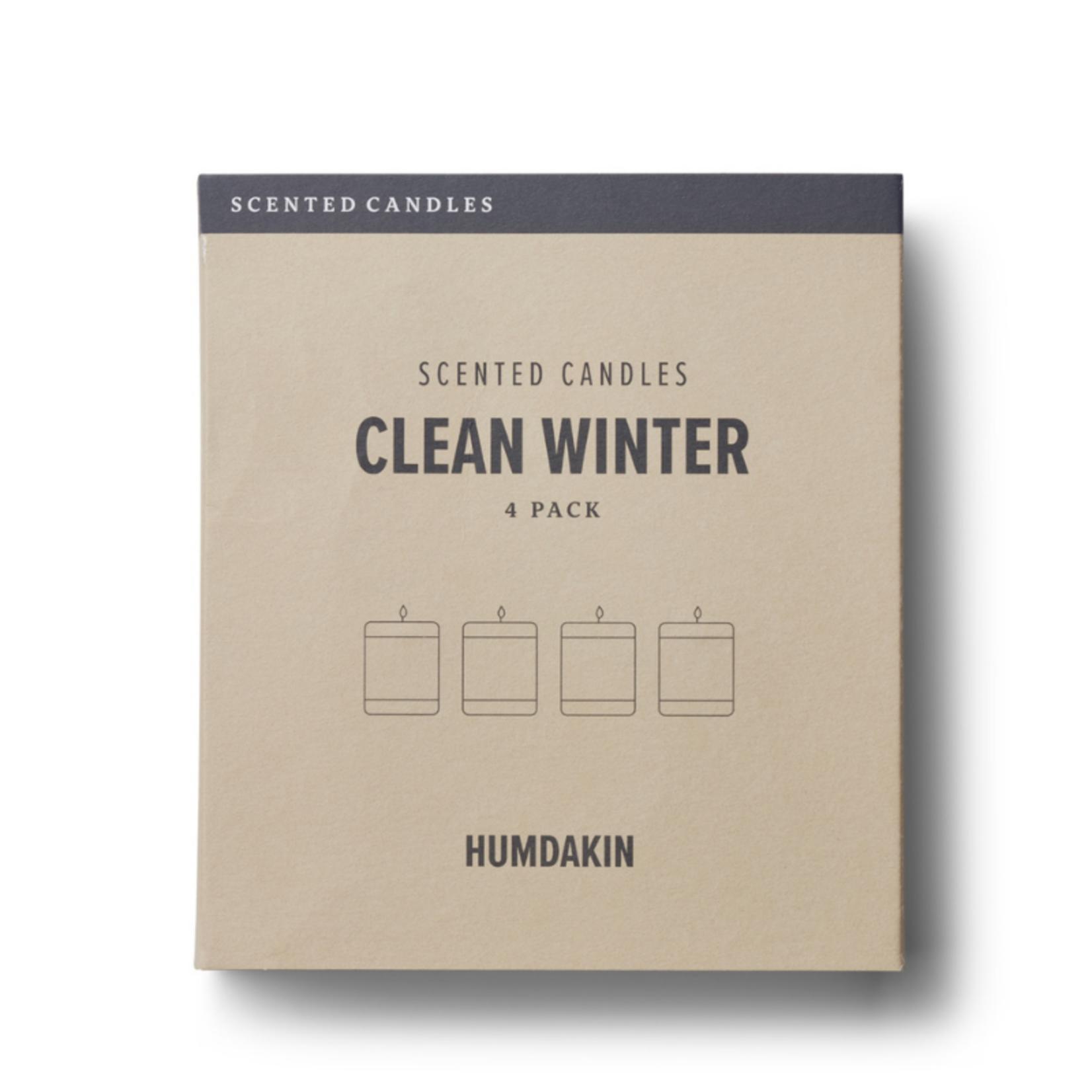 humdakin humdakin - geurkaars - clean winter - set van 4