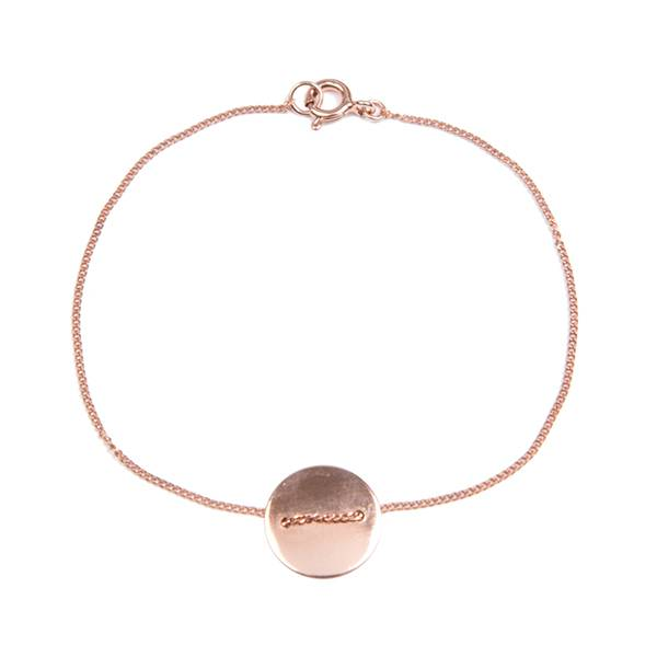 charlotte wooning armband geometry coin - rose