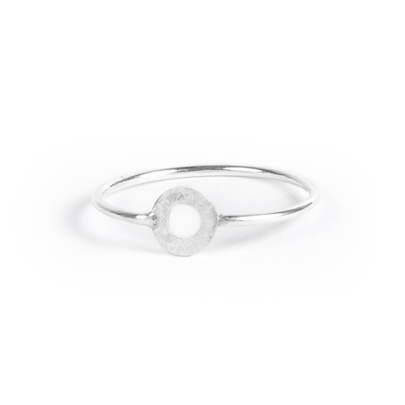 charlotte wooning ring celebration ancient round - silver