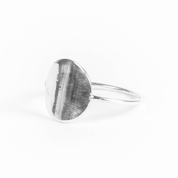 charlotte wooning ring geometry coin - zilver