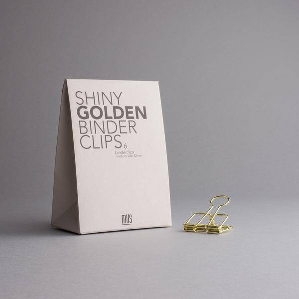 mus binder clips gold
